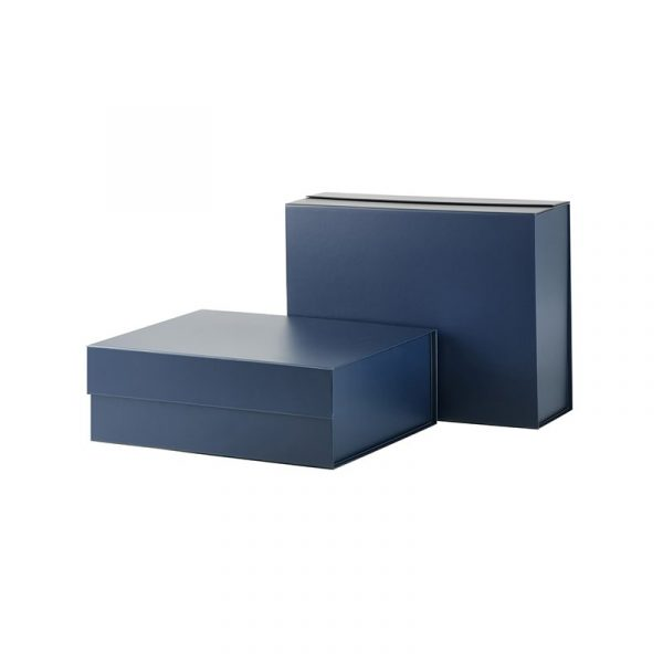 2 Blue Gift Boxes with Magnetic Closure