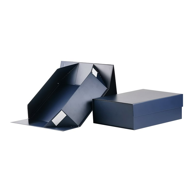 Foldable and Assembled Blue Gift Boxes