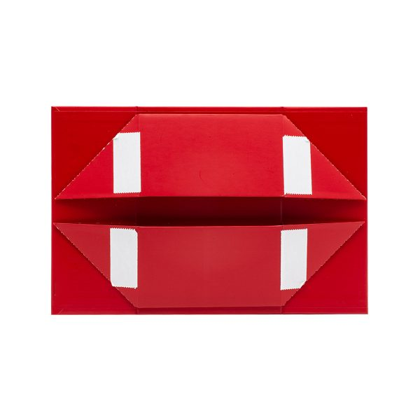 Red Folding Box with Sticky Corner Papers