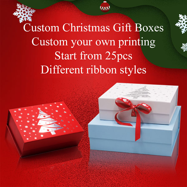Christmas eve gift boxes with different colors