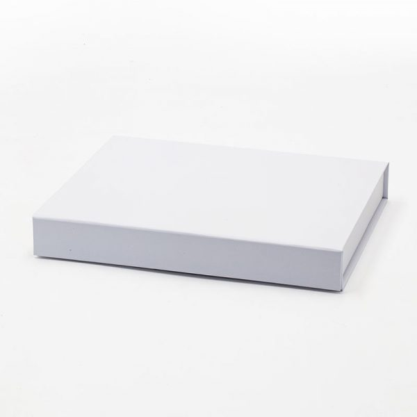 Shallow white gift box packaging