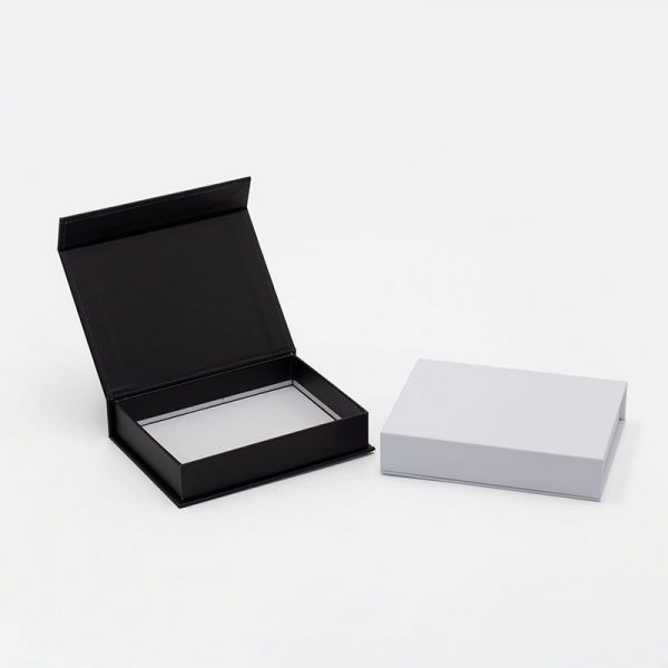 Small shallow black and white gift boxes