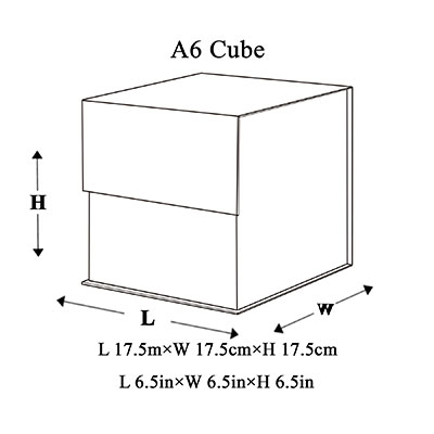 A6 Cube Magnetic Gift Box